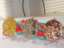 1984 Los Angeles Olympic Medals Set with Ribbons and Display Stands...