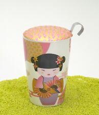 EIGENart Teaeve Trinkbecher Porzellan Deckel & Sieb New Little Geisha rose 350ml