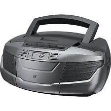 GPX Inc. BCA206S Portable Am/fm Boombox With CD and Cassette Player