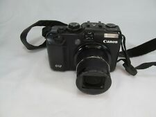 CANON POWERSHOT G12 10MP 5X OPTICAL ZOOM DIGITAL CAMERA FOR PARTS OR REPAIR