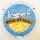 """Leinenkugels Summer Shandy 13"""" Round Two Sided Wood Beer Sign"""