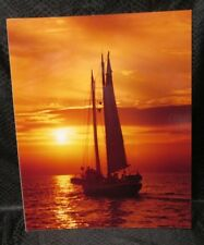 Sailboat at Orange Sunset Photo by Tom Cooley High Gloss Quality cardboard back