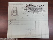 Griffin & Hoxie Importers, Wholesale Grocers and Roasters Vignette Invoice 1914