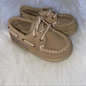 Sperry Boat Shoes Size 3 Months Crib Shoes Brown