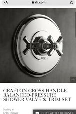 "Restoration Hardware Grafton "" Polished Chrome Shower Trim Set"