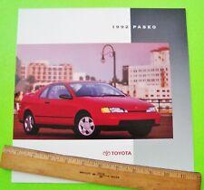 1992 TOYOTA PASEO COUPE HUGE DLX (prestige?) COLOR CATALOG Brochure 12-pgs MINT