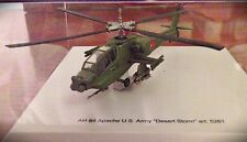 "AH64 Apache US Army ""Desert Storm"" - 5261 - Scale 1:100 With Display Case"