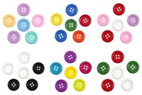 6 Pack Giant 35mm Round Craft Buttons - Trimits - 4 Hole Flat Buttons