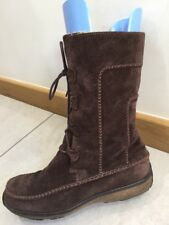 Timberland Women's Brown Suede Leather Boots Size 7.5 w Uk 5.5