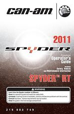Can-Am Spyder RT 2011 Roadster Owners Operators Manual Paperback S&h
