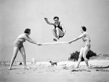 Photo.  ca 1934.  Australia.  Big Jump On Beach
