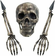 Sunnyglade Realistic Skeleton Stakes Halloween Decoration Scary Ground.