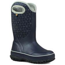 Bogs Kids' Boots Slushie Web Geo Rain, Dark Blue Multi, Size 2 (72291-469-020)