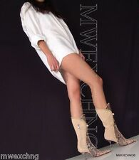 $1,200.00 Cesare Paciotti Italian Python Suede Boots Heels EU 40 Womens Shoes