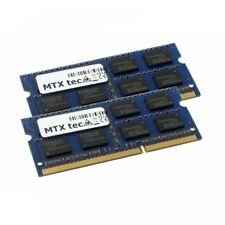 MTXtec 8GB Kit 2x 4GB DDR3 1066MHz SODIMM DDR3 PC3-8500, 204 Pin RAM-Speicher
