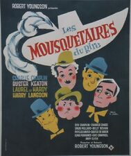 """LES MOUSQUETAIRES DU RIRE (THIRTY YEARS OF FUN)"" Affiche ent. (CHAPLIN, KEATON)"