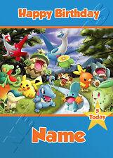 Pokemon - Personalised Birthday Card Son Grandson Nephew Brother Friend