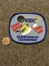 Vintage Wibc Cedar Rapids Iowa 1991 Championship Bowling Patch Mint