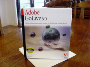ADOBE GOLIVE 6 (MAC ONLY - MacOS 7.x - MacOS 10.5) - (OPEN BOX) - (NEW)