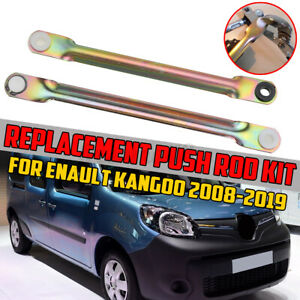 2x Stainless Steel Wiper Motor Linkage Push Rod Replacement For RENAULT KANGOO