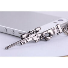Mini ​Military AWM Sniper Weapon Gun Model Metal Pendant Keychain Key Ring New