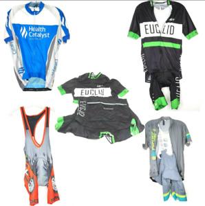 Louis Garneau DNA Cycling Rock Racing Bibs & Cycling Shirts Lot Of 7 Size L & M