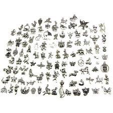 Retro Silver 100pcs Bulk Lots Mix Animal Charm Pendants Jewelry DIY  ZT