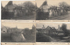 Lot 4 cartes postales anciennes GUERRE 14-18 WW1 MARNE CHAMPGUYON