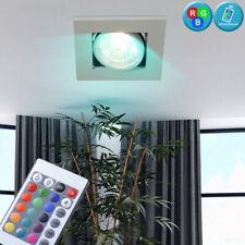 LED Einbau Lampe ALU Spot beweglich RGB Dimmer Fernbedienung Flur Decken Leuchte