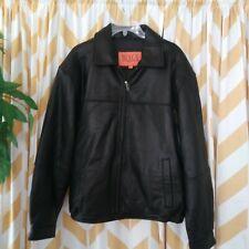 Bench Leatherware Mens Size L Black Soft Glove Leather Zip Up Jacket Coat