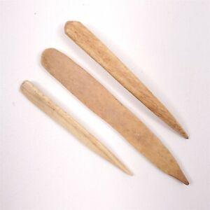 "3 Bone Awls Native American Artifacts Eastern Montana South Dakota 3.5""-4.75"""