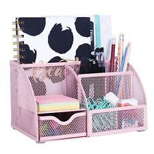 EXERZ Mesh Desk Organizer/Pen Holder/Multifunctional Organizer (Light Pink)