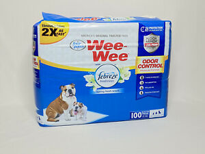 Four Paws Febreze 22x23 Wee Wee Pads 100 Ct
