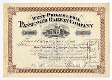 1899 West Philadelphia Passenger Railway Co. - George D. Widener