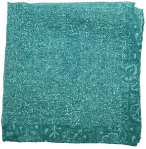Isaia Pocket Square Green Paisley 06PS0169 $140