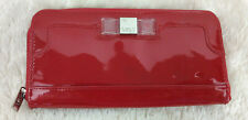 Lulu Red Patent Wallet Zip Around Clear Bow Detail Checkbook