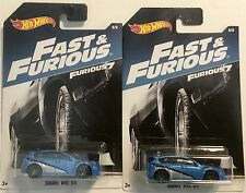 2017 Fast and the Furious 7 Subaru WRX STI Walmart Exclusive Hot Wheels Lot of 2