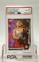 2018 Topps WWE Women's Division Ronda Rousey #25 RC Rookie PSA 10 GEM MINT