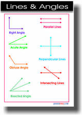 Lines & Angles -  Math POSTER