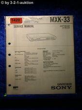 Sony Service Manual MXK 33 Karaoke Mixer (#1420)