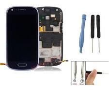 ECRAN LCD + VITRE TACTILE SUR CHASSIS POUR SAMSUNG GALAXY S3 MINI i8190 BLEU
