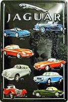 Cartello di Metallo Montaggio Jaguar Goffrato (hi 3020)