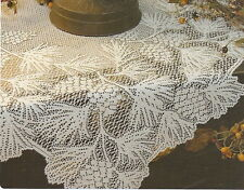 "Heritage Lace Woodland 48"" Round Table Topper pine cone 100% Polyr Ecru WL-4800E"