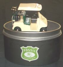 Retro Limited Collecters Edition Fossil Golf Cart Desk Clock Sold As Is Rgl