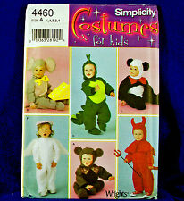 Simplicity 4460 Animals Panda Angel Devil Dragon Costume Sewing Patterns 1/2-4
