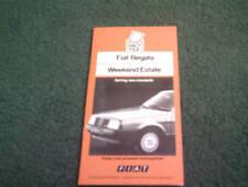 1986 Fiat Regata Weekend DEALER ONLY SALESMANS FACT FILE BROCHURE