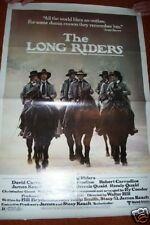 LONG RIDERS folded Unused 1 sheet 1980  MOVIE POSTER