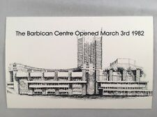 1982 Barbican Centre Opened Limited Edition 1 000 Hand Numbered VELDALE Postcard