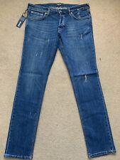 """Just Cavalli Men's Slim Fit Distressed Stretch Blue Jeans, W36"""", L34"""", £280"""