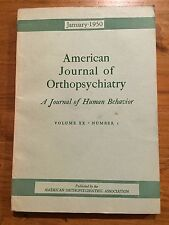 American Journal of Orthopsychiatry January 1950 Menninger Wright Sears Wise